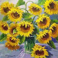 Freshly Picked Sunflowers