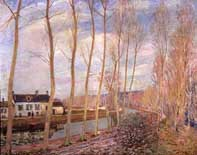 The Canal of Loing at Moret